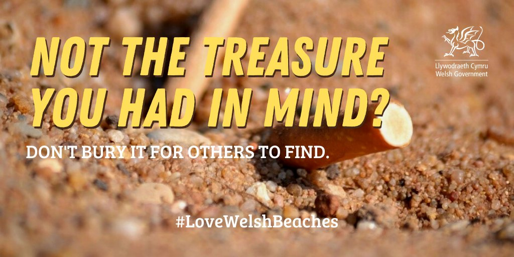 Please respect our beaches and take your cigarette butts home with you. #LoveWelshBeaches #MarineWales