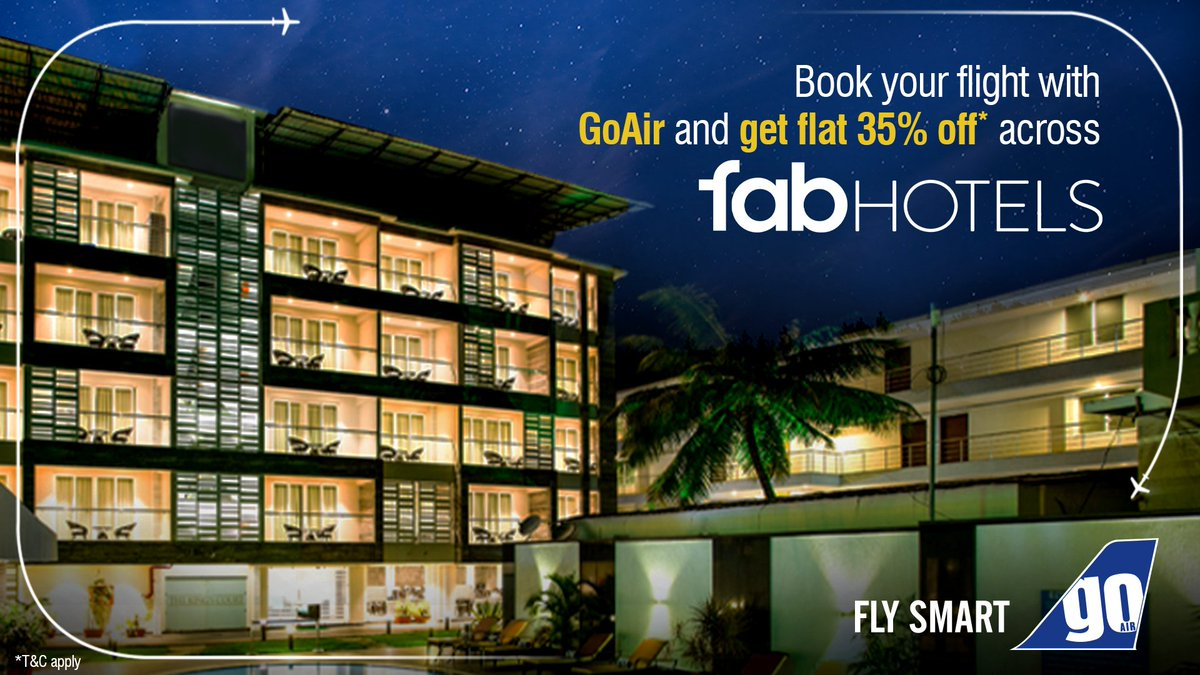 A 'fab' deal that you just can't miss! 🤩✈️ Book your flight with us and enjoy a flat 35%* discount at FabHotels! Know more: https://t.co/pD1rAOI6Js https://t.co/EM6ru3DveZ