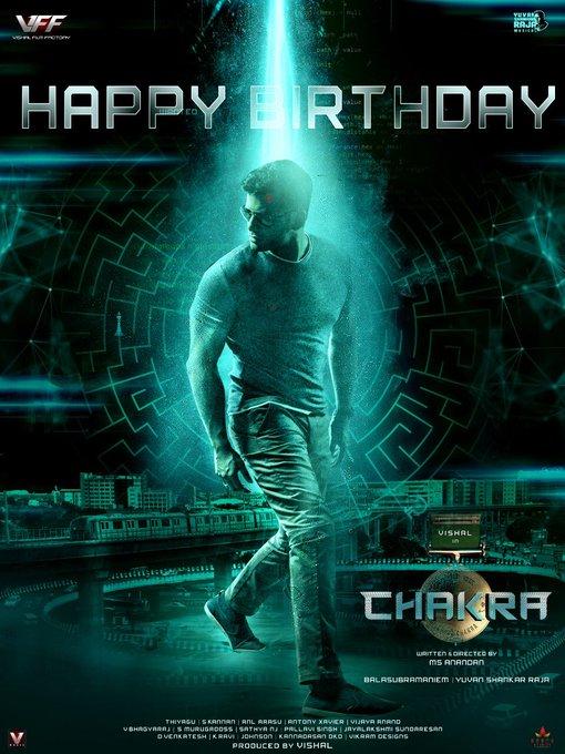 Actor - Producer  @VishalKOfficial  Birthday Spl poster from #Chakra   #HappyBirthdayVishal  #HBDVishal #Vishal https://t.co/z6iWJl7EJC