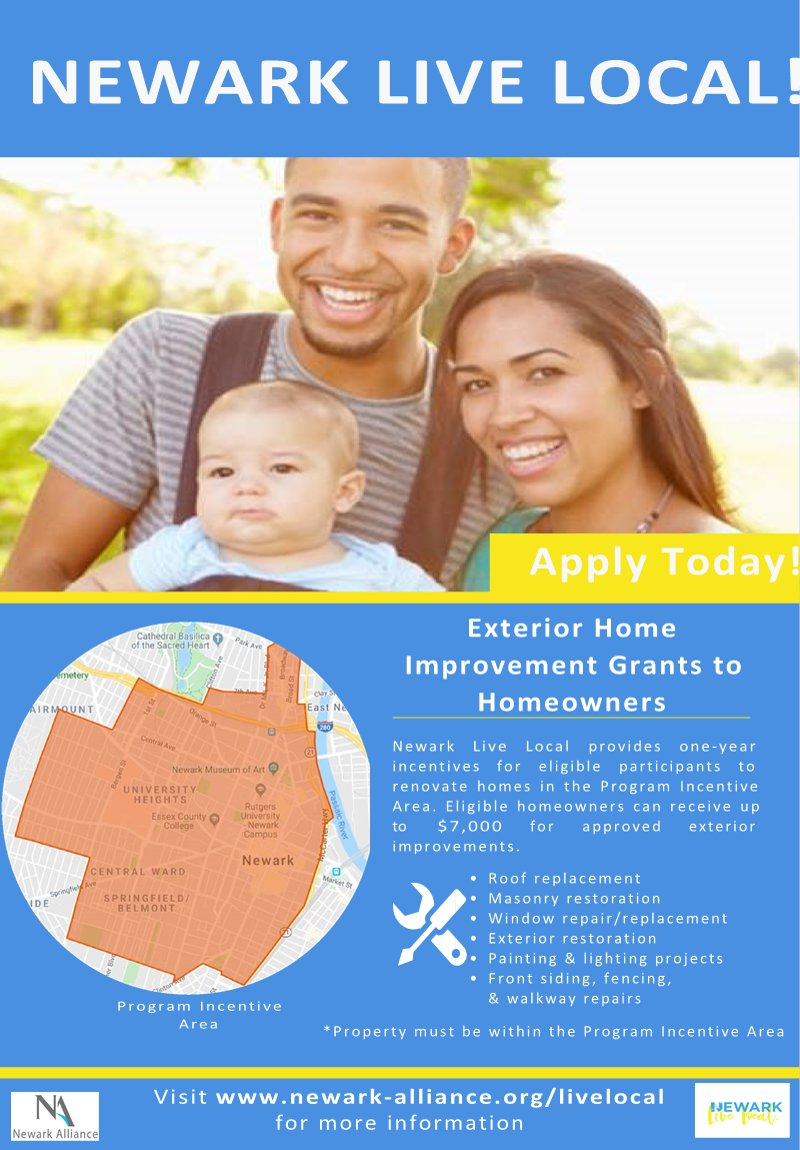 City Of Newark On Twitter Are You A Homeowner In Need Of Exterior Home Repairs See If You Qualify For The Newark Alliance Live Local Exterior Home Improvement Grants Click The Link
