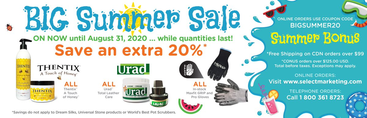 LAST CHANCE TO SAVE! Sale ends August 31. https://t.co/2ONyzkoF3e