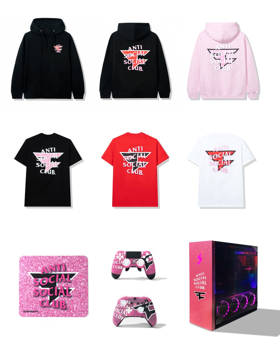 NOW AVAILABLE, IN LIMITED QUANTITIES  FaZe Clan by Anti Social Social Club: The Collection  https://t.co/Ibuwmej7O6 https://t.co/RL6YZ5RsnM