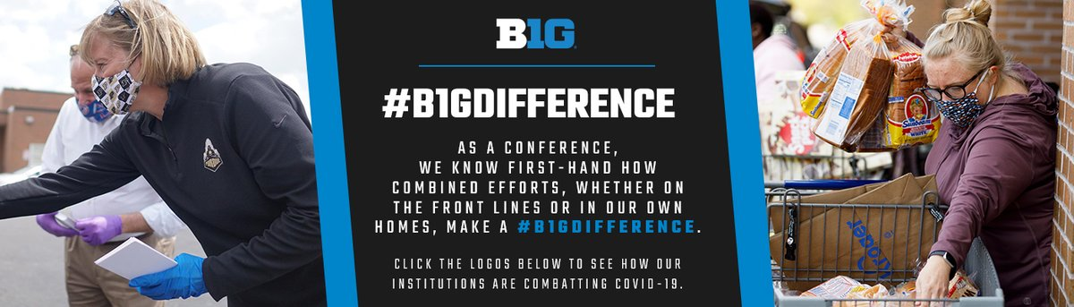 Across the globe, the efforts of Big Ten students, alumni, faculty and staff have played a crucial role in protecting lives and fighting COVID-19. For more on the #B1GDifference being made every day, visit: https://t.co/zNrgjpScA3 https://t.co/wz1wY5M3jh