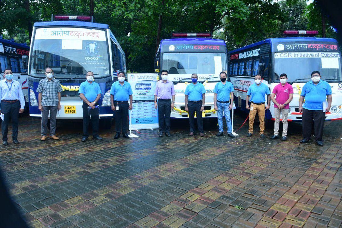 Chief Minister Dr @DrPramodPSawant flagged off the Aarogya Express Vans under CSR initiative of Colorcon. https://t.co/Ed9az1vXVx