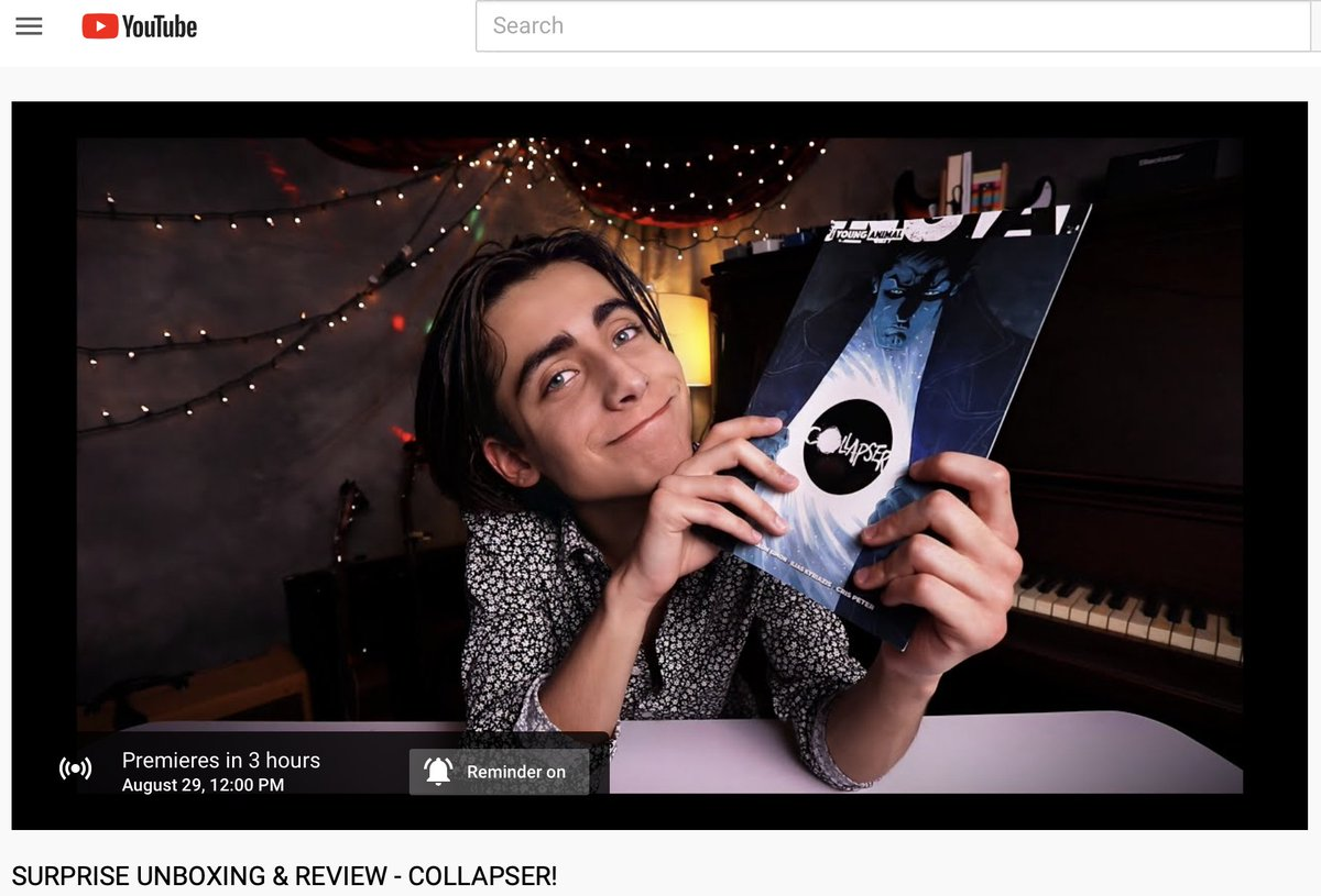 SURPRISE UNBOXING & REVIEW - COLLAPSER! by Mikey Way #MCR #MyChemicalRomance youtu.be/mrpZNeo-jtQ
