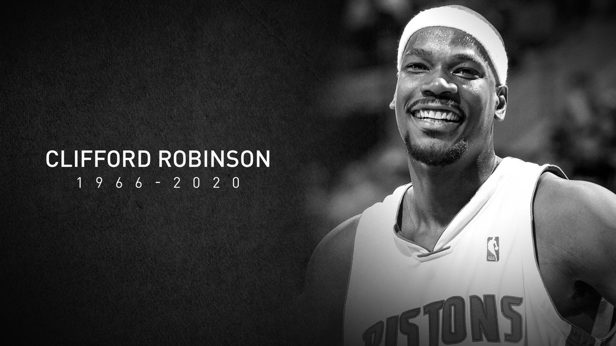 The Detroit Pistons family mourns the loss of former Piston Clifford Robinson.   We send our condolences to his family and loved ones – Great player, better person! Rest In Peace Uncle Cliffy. https://t.co/IYnr2MgHVI