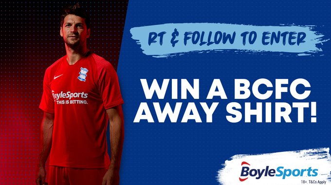 💙 WIN A @BCFC AWAY SHIRT!❤️ RT & FOLLOW for your chance to win a brand new Birmingham City away shirt! #BCFC #KRO 18+ only. One winner drawn. Comp closes 11pm 30/08/20. T&Cs.