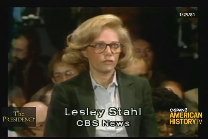 Blasts from the past. @CSPAN on Friday night showed President Reagan's first press conference from Thursday, January 29, 1981. Amongst familiar faces: Lesley Stahl, @JudyWoodruff, Sam Donaldson and Bill Plante. https://t.co/EuSc9JwqKq