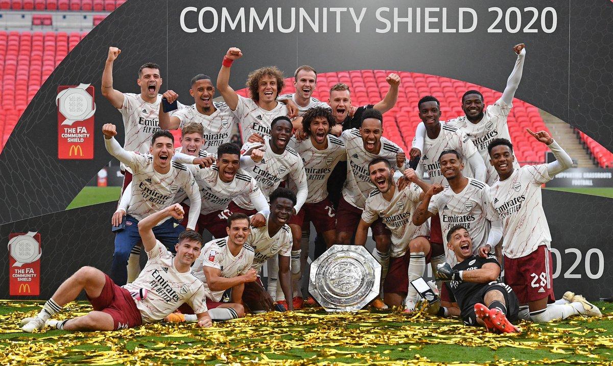 We just 𝗹𝗼𝘃𝗲 playing at Wembley! 😍  #CommunityShield | #ARSLIV https://t.co/xxjfPUbXRM