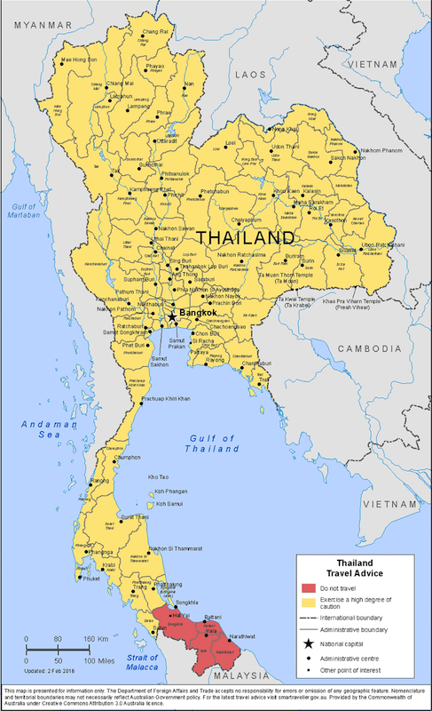 detailed maps of thailand - 647×1060