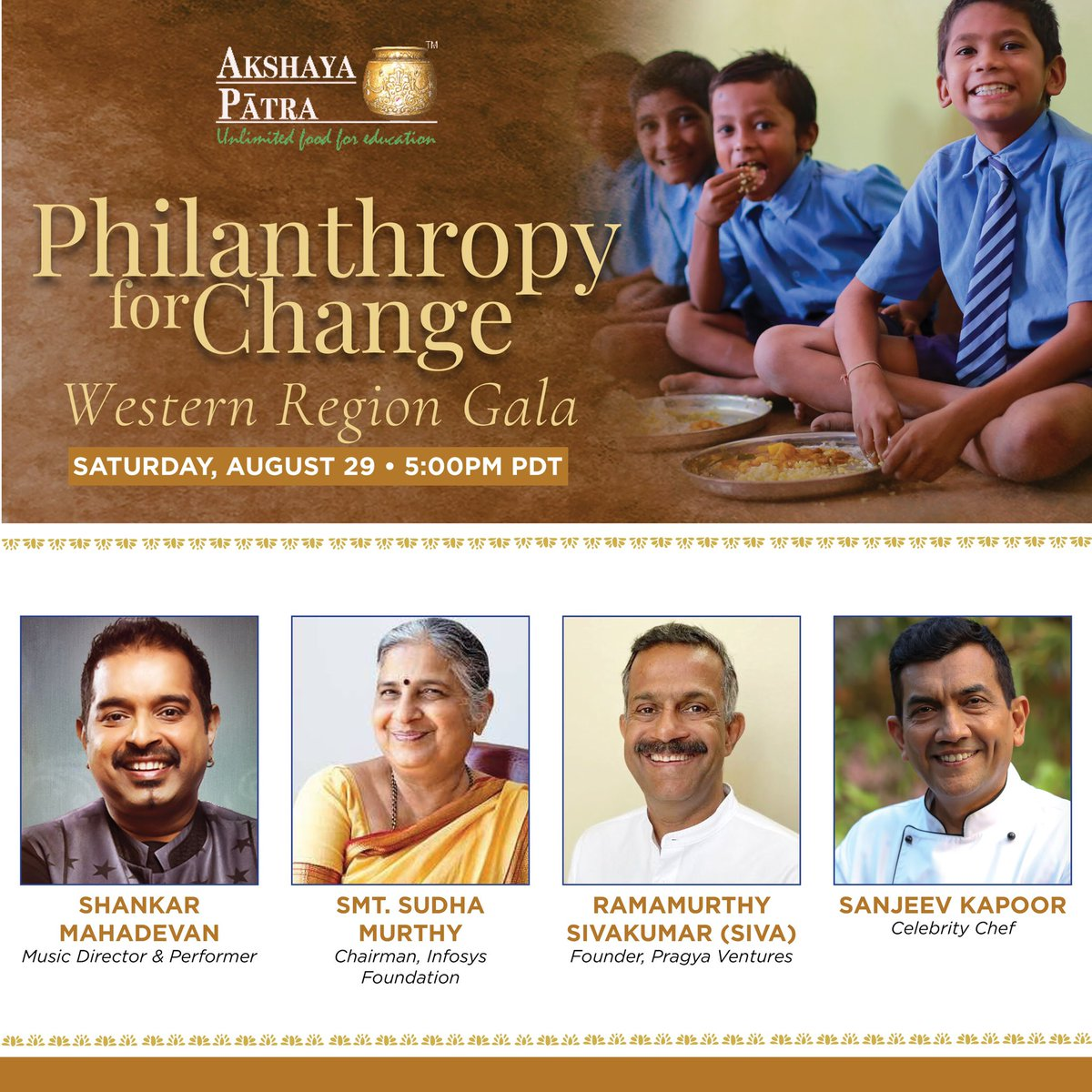 Join us today by registering on this link- https://t.co/h6fRqMkZFW @AkshayaPatraUSA @Shankar_Live https://t.co/qeCDfHkUXt
