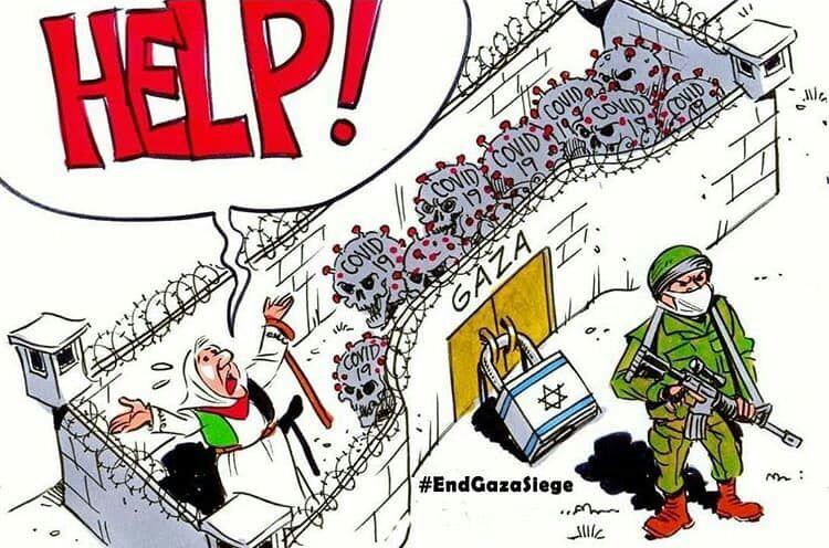 *Israel and coronavirus are suffocating besieged Gaza Strip..!!*