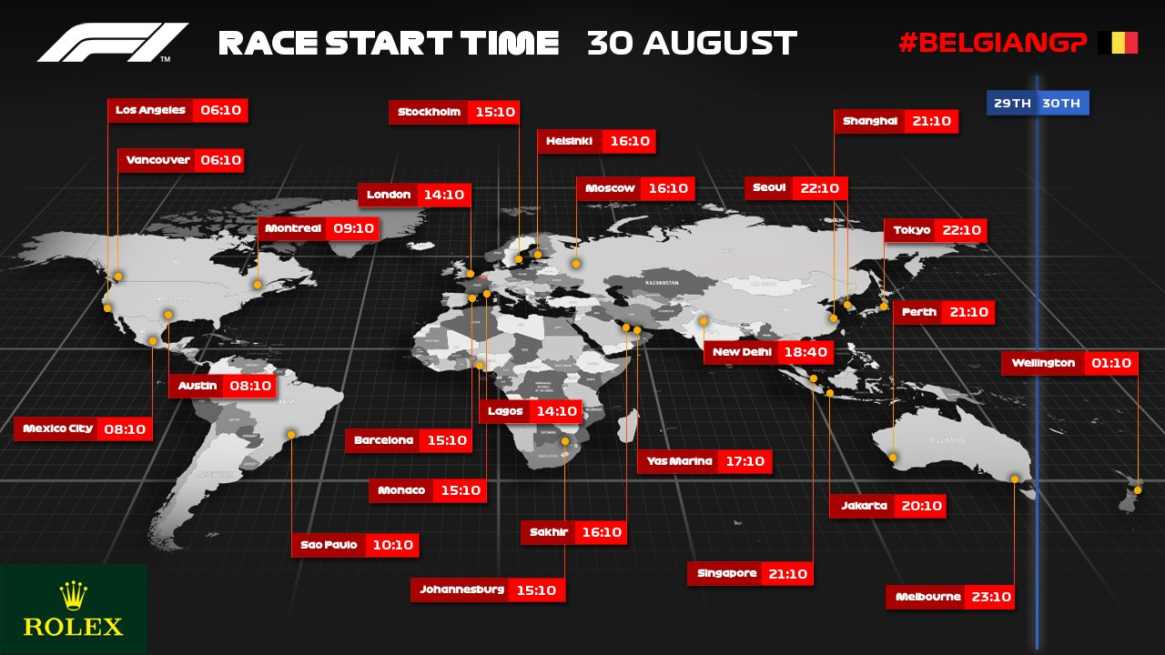 F1 Belgian GP 2020 Live Stream, Schedule, TV Channel & Live Telecast Information Belgian Grand Prix 2020