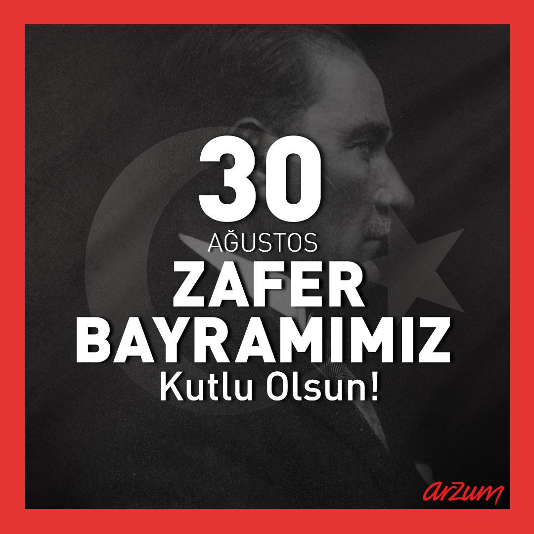 30 Ağustos Zafer Bayramımız kutlu olsun! #Arzum #30AğustosZaferBayramı https://t.co/tgIYXBTQ6I