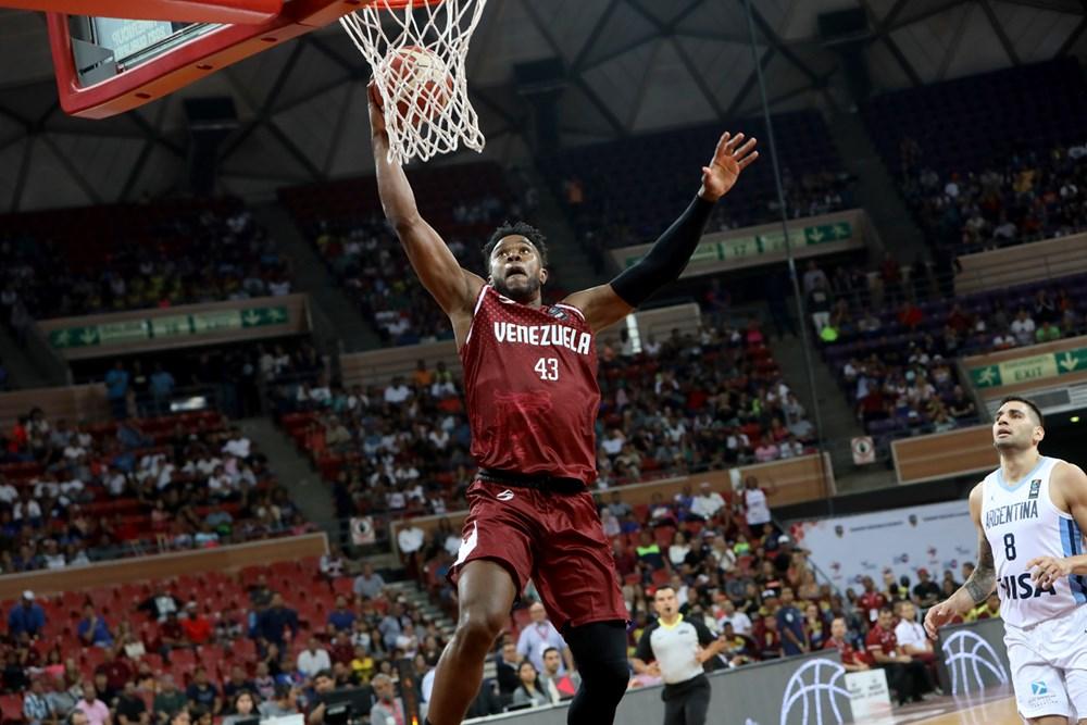 Nestór Colmenarez en el clasificatorio de la FIBA AmericaCup 2021   Foto: Prensa FIBA  