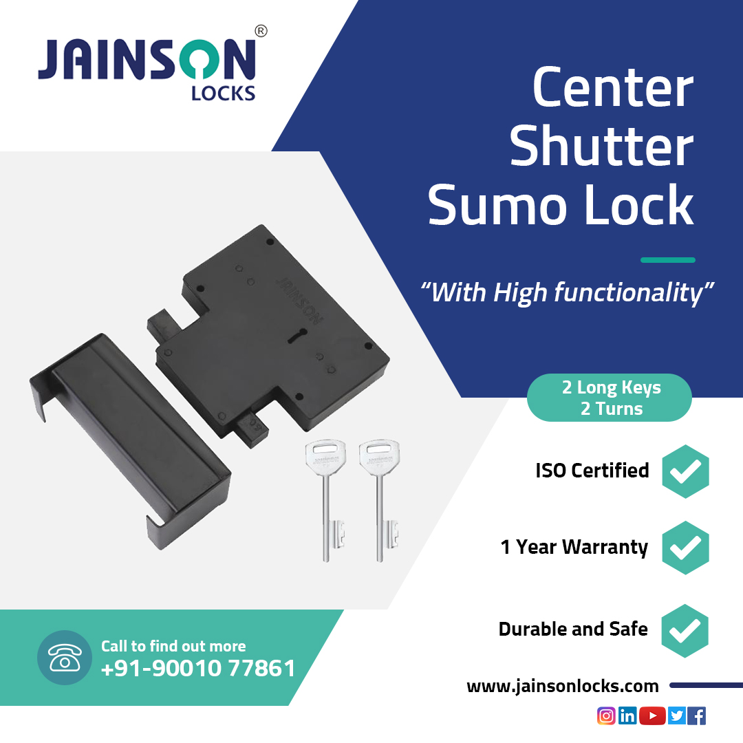 Center Shutter Sumo Lock- A Perfect Lock for the safety of your godown and shop.   A Genuine Quality and Strong Durability which you can trust.  https://t.co/sWm0X7AWYn   #centerlock #shutterlock #lock #security #lockmanufacturers #lockingsolutions #securitysolutions #jainson https://t.co/1ud9oSQdsU