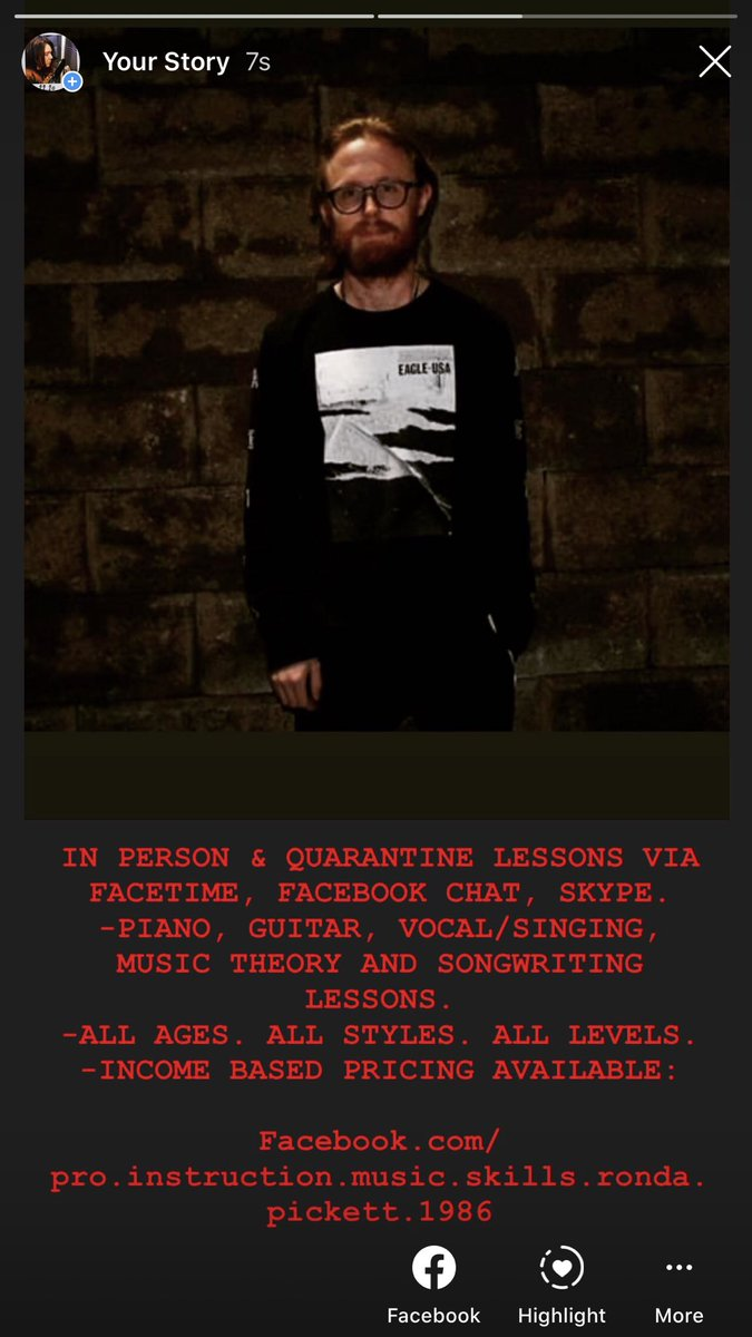 IN PERSON & QUARANTINE LESSONS VIA FACETIME, FACEBOOK CHAT, SKYPE. -PIANO, GUITAR, VOCAL/SINGING, MUSIC THEORY AND SONGWRITING LESSONS. -ALL AGES. ALL STYLES. ALL LEVELS. -INCOME BASED PRICING AVAILABLE:  https://t.co/M0BkrTaKAJ   @Connorjl74 https://t.co/lC36pz0ESG