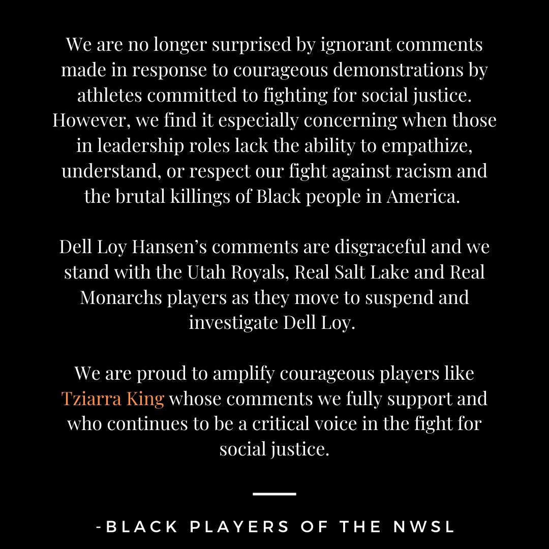 - The Black Players of the NWSL ✊🏽
