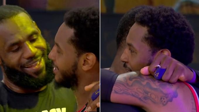 【影片】這一幕看哭多少球迷?比賽還沒結束,詹姆斯徑直走出板凳席,奔向安東尼擁抱!