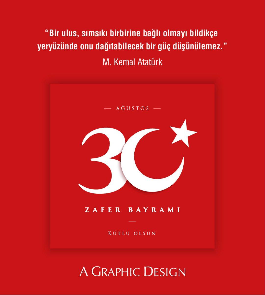 30 Ağustos Zafer Bayramı kutlu olsun! 🇹🇷  #30Ağustos #ZaferBayramı #agrafikdizayn https://t.co/itSeZVf1IP
