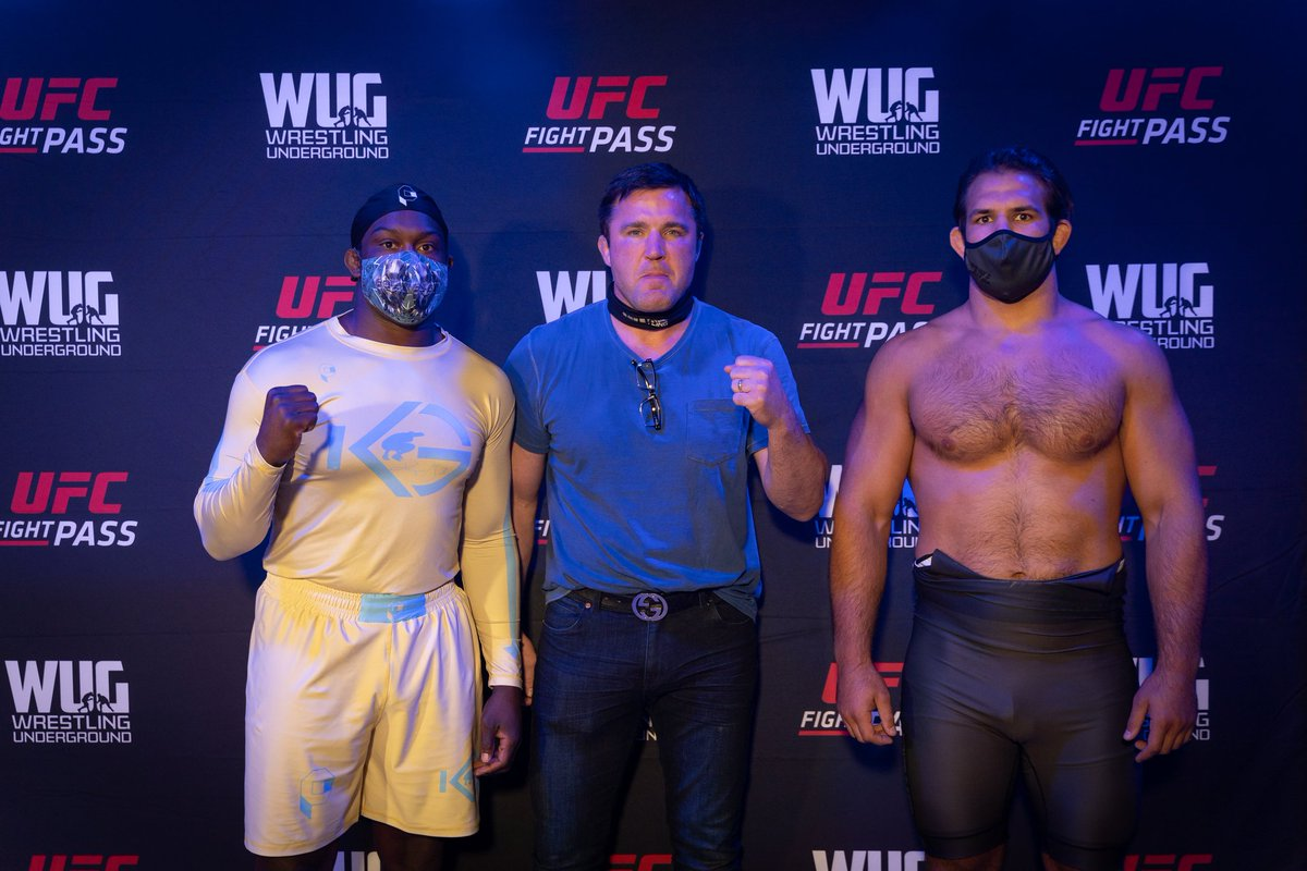 The main event of Wrestling Underground 1: Nick Gwiazdowski v Kyven Gadson   #WUG1 air live SUNDAY on @UFCFightPass at 6pm PST/9pm EST!  #wug #wug1 #wrestlingislife #wrestlingunderground #wrestle #wrestlers #freestylewrestling #grecoromanwrestling #chaelsonnen #ufcfightpass https://t.co/gbVp1gaS3d