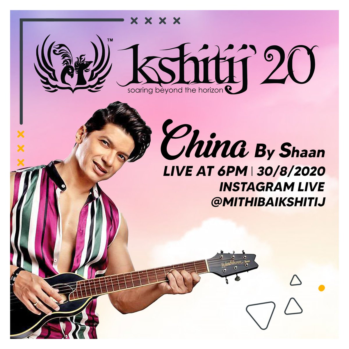 Ever since he set foot in the industry more than 20 years ago, Shaan has been one of the most surreal singer this country has ever seen.  Join Team Kshitij as we go Live with him today at 6 p.m. to promote his recent banger, 'China'. #kshitij20 #mithibaikshitij #sapnokasafar https://t.co/fwx3kZsf9y