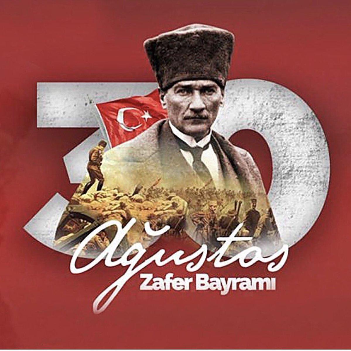 Gazi Mustafa Kemal Atatürk başta olmak üzere bağımsızlık mücadelemizi zaferle taçlandıran tüm kahramanlarımızı saygı ve minnetle anıyoruz.  #30AğustosZaferBayramı 🇹🇷 https://t.co/uE92mJaQcL