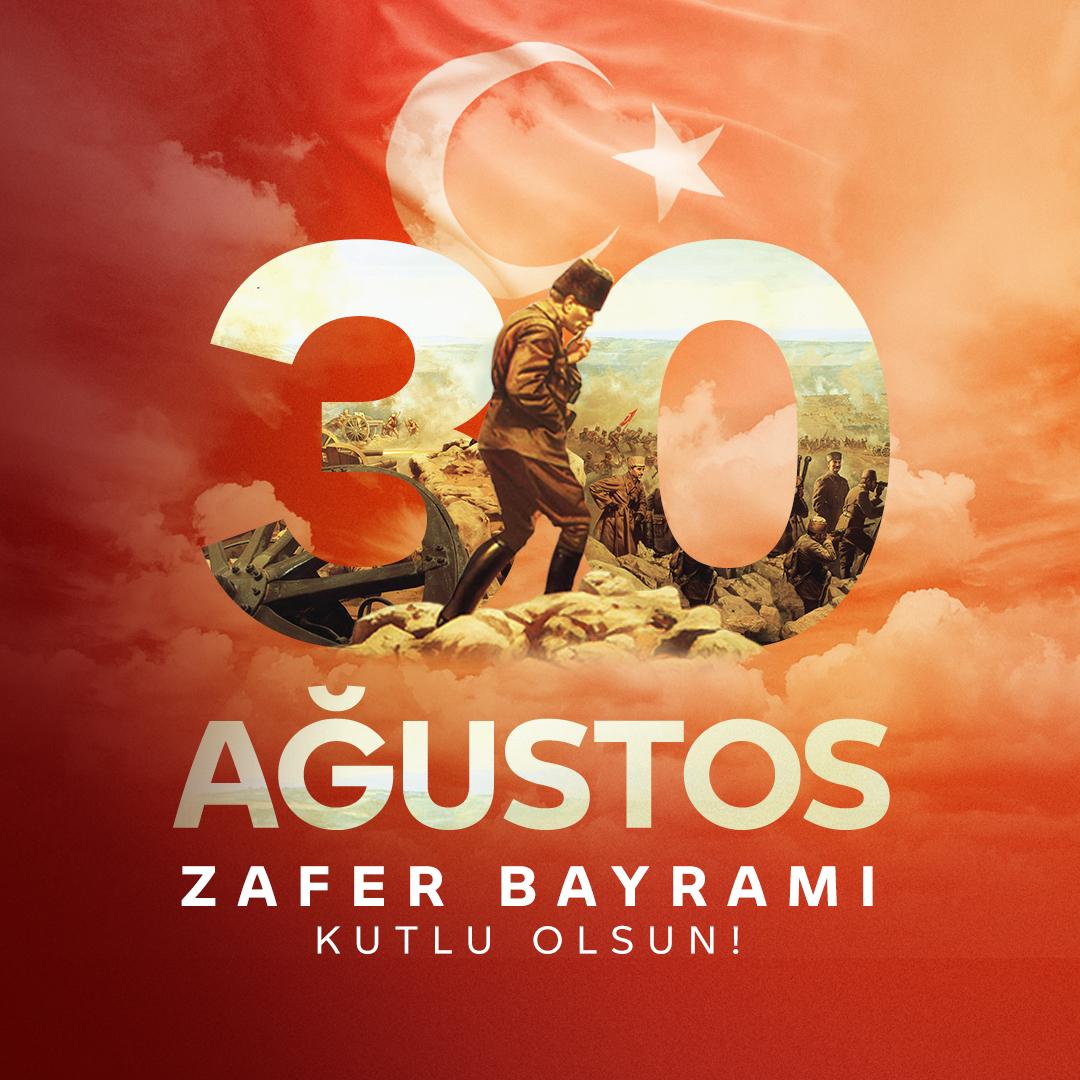 30 Ağustos Zafer Bayramımız kutlu olsun. #30AğustosZaferBayramı https://t.co/2zjgXPIUcW
