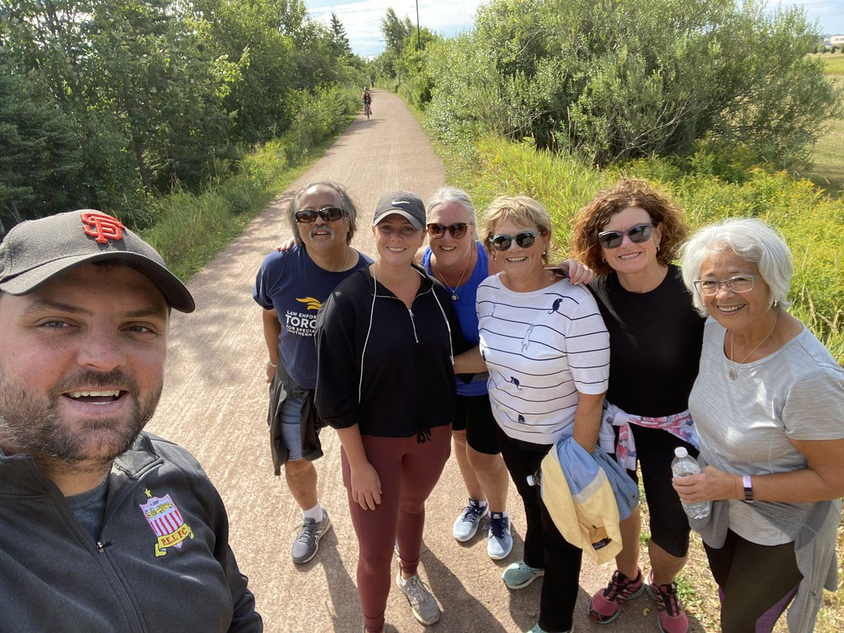What a fantastic walk yesterday for @SpecialOPEI virtual 5km walk/run! We even had a celebrity join us for the walk! Thank you Tommy! @HappyElishas Your support for this fantastic organization is unmatched, so thank you! https://t.co/IkzCQhk3Ai