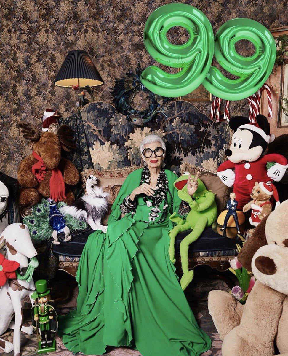 Dünyanın en yaşlı moda ikonu. Iris Apfel 99. yaşını kutluyor.  @IrisBApfel  #irisapfel  #99yearsold  #fashion  #icon