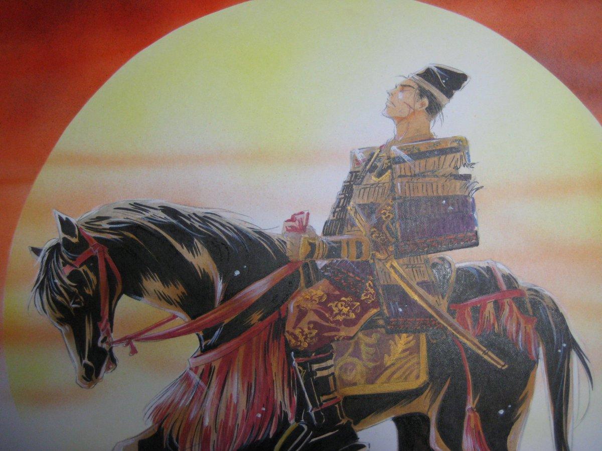 """義仲・巴プロジェクト auf Twitter: """"「義仲最期」 粟津ヶ原で今井兼平 ..."""