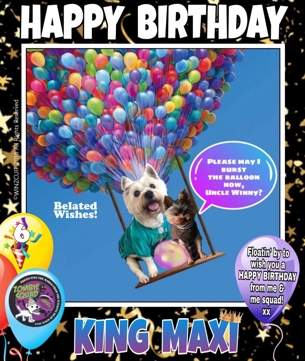 🎂Wishing a BELATED 🎁HAPPY 6th BIRTHDAY🎉 to our pawsome pal, MAXI👑 from Leada Billy & your ZombieSquad pals. Sorry we missed your special day on 27 August... we hope it was full of tasty treats, belly rubs & cayke, soldyer. RaaAAA!! 💜🎂🎁🎉 @Bigmaxmastiff @ZombieSquadHQ #ZSHQ https://t.co/7gpXe22aXb