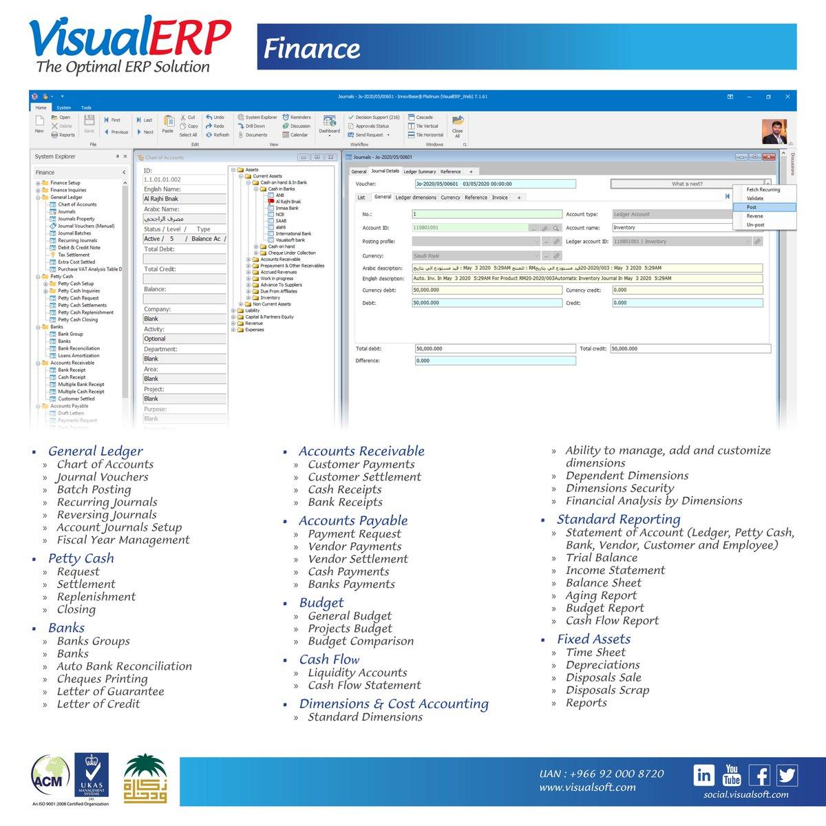 #VisualERP #Features  #Finance #Module