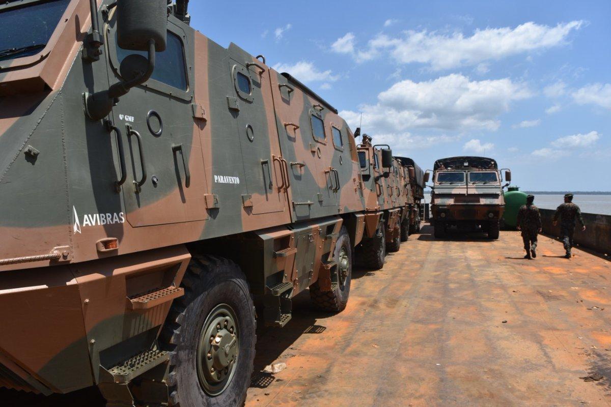#SeuExércitoNuncaPara - Comando Militar do Norte e Comando de Artilharia do Exército enviam meios para a #OperaçãoAmazônia. O transporte será feito de Belém/PA até Manaus/AM, percorrendo mais de 1.600Km. Veja mais: https://t.co/H7a2O23lPM https://t.co/Y5fvXFcteQ