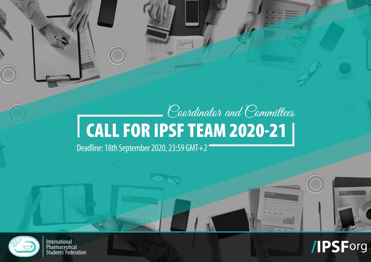 IPSF is calling for applicants to join our IPSF Team!   Call: https://t.co/ilAv9fevBo Application Form: https://t.co/ptsqUc1EqT  Nominations will be open until the 18th of September 2020 11:59PM GMT+2.  Viva la IPSF, Viva la Pharmacie! #IPSFOrg #TeamCall https://t.co/oXMlSukzHB