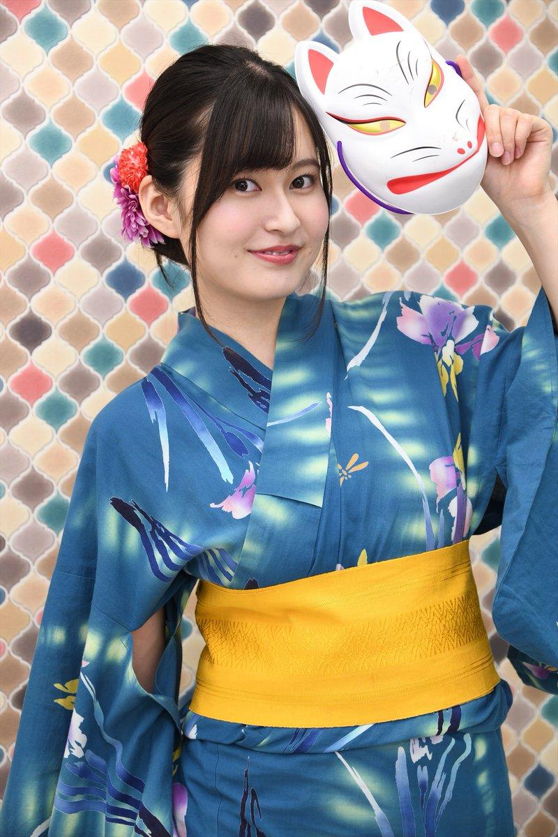 #未梨一花 さん 8/22 #東京Lily #撮影会 @IchikaM20st_浴衣に狐のお面の組み合わせは夏祭りみたいですね。扇子は広げると日本舞踊、閉じると落語家っぽい(笑)in yukata #未梨ちゃんは僕の彼女 #4thDVD #9月17日