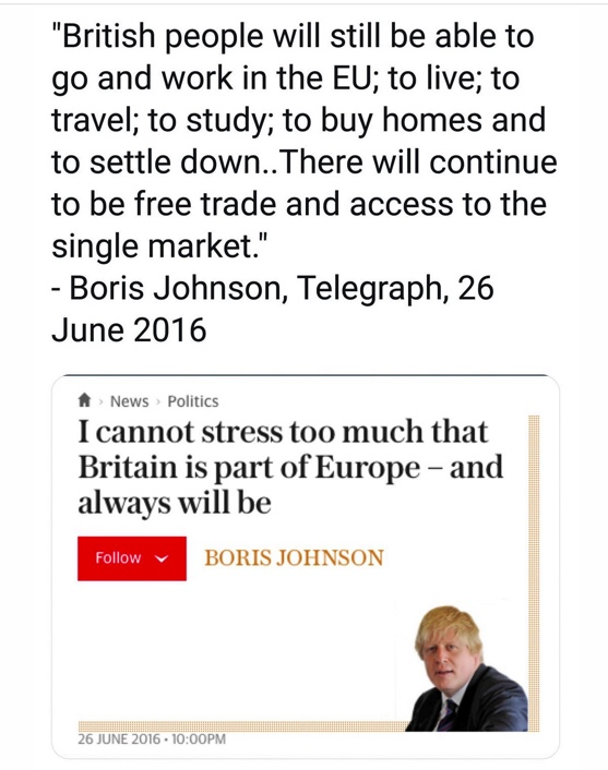 This, @BorisJohnson, is the promise you made a couple of days after Leave won the referendum.  From the bottom of my heart, I despise you for breaking this promise. History will remember you as the man who flushed away the rights of every single UK citizen in order to become PM. https://t.co/yMSZzimNIu