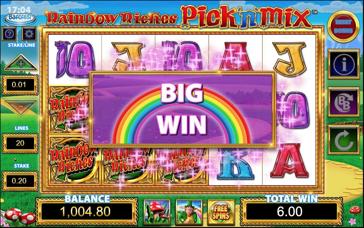 Rainbow riches welcome bonus rewards