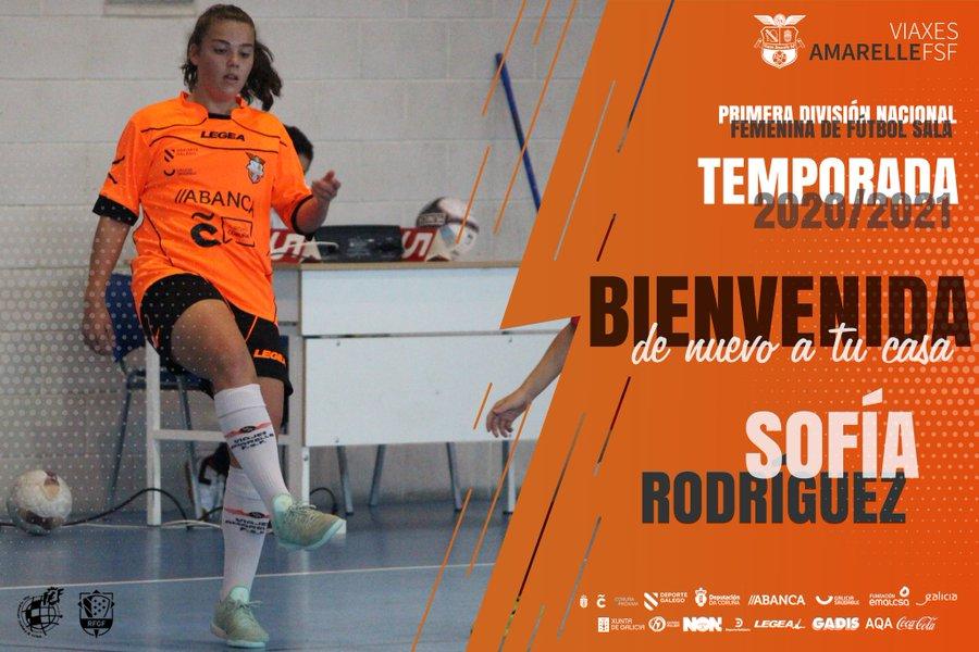 La canterana Sofía Rodríguez regresa al Viaxes Amarelle FSF para reforzar el equipo de Primera División Nacional Femenina FS