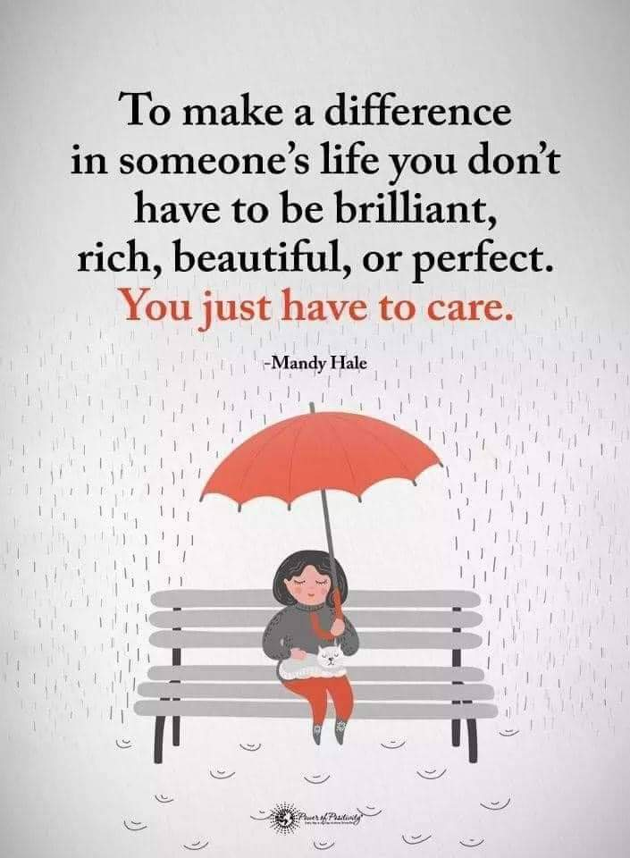 JUST, TAKE THE TIME TO CARE 💜💜💜. It really is that simple! #YouMatterAlways #justbethere #takethetimetocare #betheonewhocares #bekind #ifyoucanbeanythingbekind #kindness #kindnessisalwaysinseason https://t.co/yc5fnDbtml