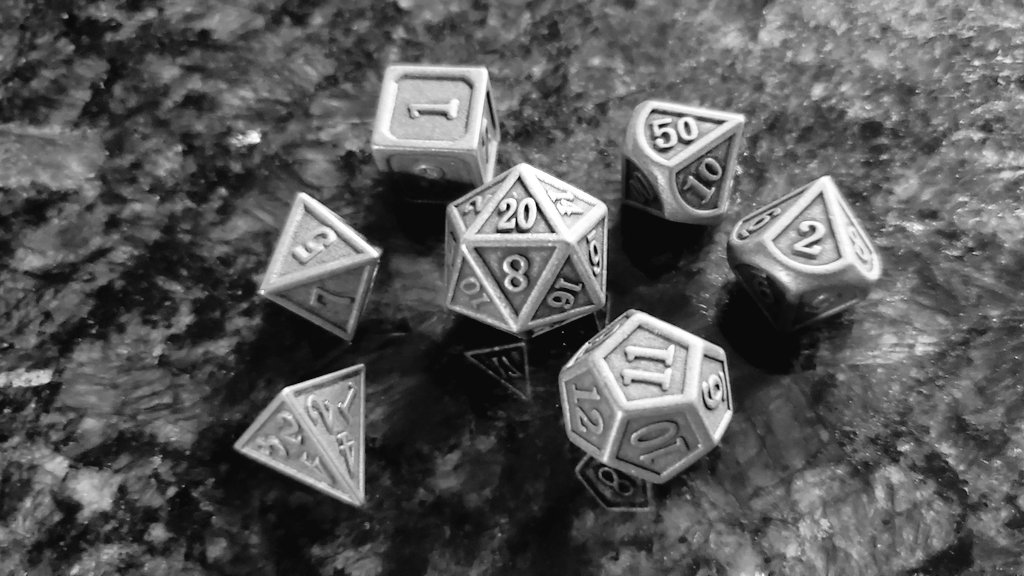 Since no dice were bought at #GenCon2020 this $12.50 lightning deal on Amazon yesterday for metal dice was just too good to pass up https://t.co/3faIzmb6L4