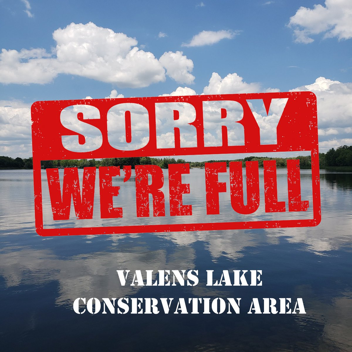 Sunday, August 30 @ 2:35 pm. Valens Lake has reached capacity and is now temporarily closed for day use visitors. https://t.co/t2iia0iLRJ