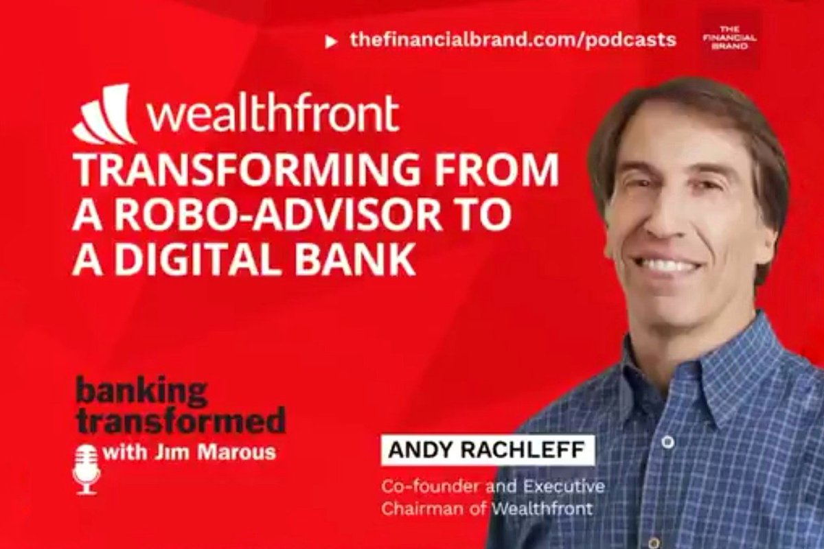 Grow with your customers by  favouring people, not the institution –  Software-based #innovation scales, people and branch-based doesn't.  @ARachleff, @Wealthfront, talks with @JimMarous in #BankingTransformed: https://t.co/skQcS1VBGa #WealthTech #RoboAdvisor #DigitalBanking https://t.co/fwIVwiuek3