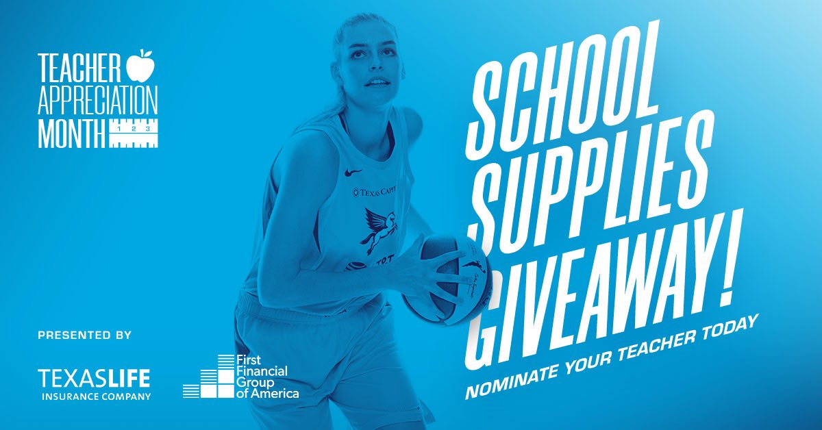 September is Teacher Appreciation Month presented by @TexasLifeInsCo and First Financial Group of America! 👨‍🏫👩‍🏫  To celebrate we're giving away school supplies and recognizing these heroes all month! 📚✏️  Nominate today ⤵️ https://t.co/yVDIjK4AaC https://t.co/s97xzfV1qC