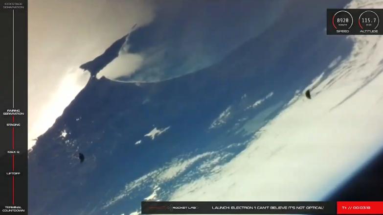 Eyección de baterías del cohete Electron. https://t.co/RSBy3mjLSj