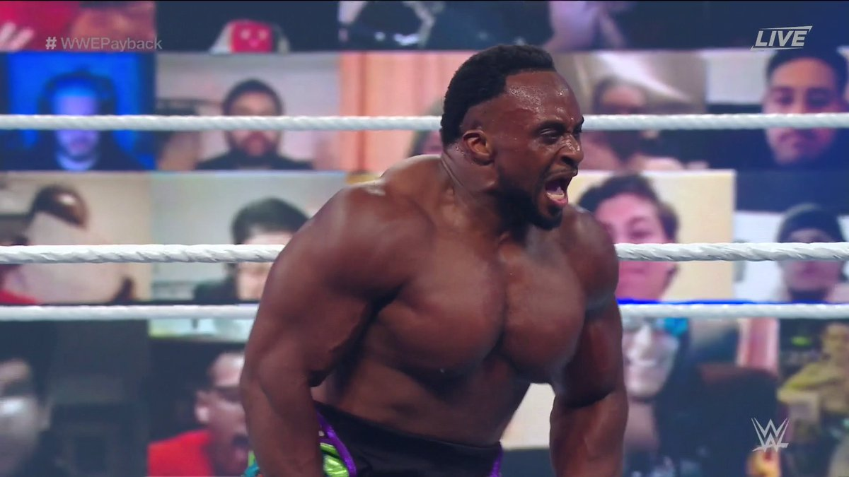 He told YOU. 🦄🎺  This is just the beginning for @WWEBigE as he singlehandedly puts away @WWESheamus at #WWEPayback! https://t.co/1q8CN9BK3J