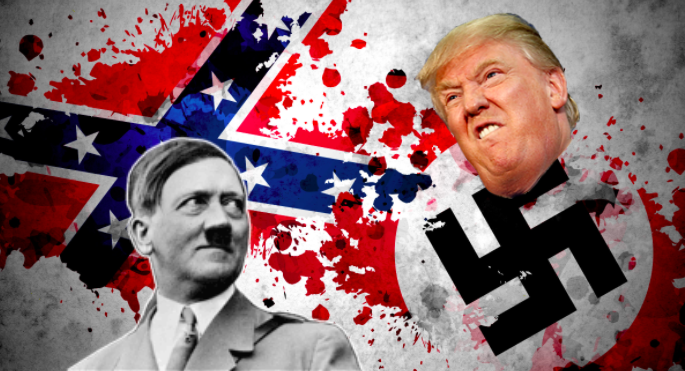 The Nazi  #Swastika and the  #ConfederateFlag aren't exactly the same thing but they're not all that different either, which may provide a clue why we all too often see them flown from the same porches. In 2020 both are symbols of purposeful racist hate, not history or heritage /20