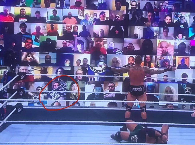 Being The Elite Sign Displayed on ThunderDome at Payback