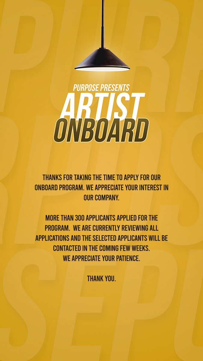 Thanks for taking the time to apply for our OnBoard Program. We have received over 300 applications and the selected applicants will be contacted in the coming few weeks.  We appreciate your patience. Thank You. #followyourdreams  #pursuepassion #pursuepurpose https://t.co/9FLASwPI6z