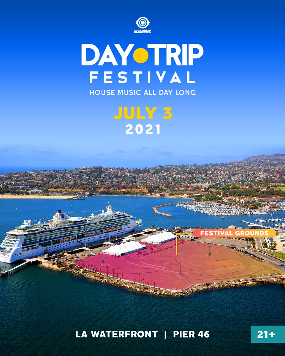 The future is bright!😎☀️ Finding new venues in LA is never easy, but for July 3rd we've locked in a BEAUTIFUL one— Pier 46 at the LA Waterfront! I'm stoked to announce #DayTripFestival 🏝😎☀️💦 ... instagram.com/p/CEifIVoFfSn/